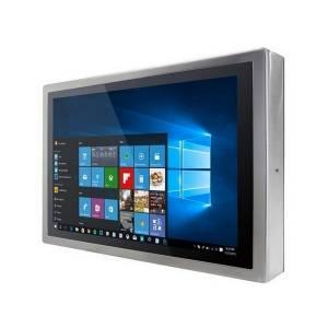 """W22L100-SPA3 Промышленный стальной 21.5"""" LCD монитор с IP65 по всему корпусу, 1920x1080, передняя панель из нержавеющей стали, VGA, проекционно-емкостный сенс. экран (USB), с блоком питания 12В DC 100-240В AC, вход питания 12В DC (M12)"""