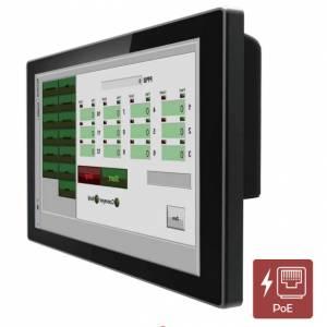 """R12L100-PCM2-PoE 12.1"""" TFT LCD монитор, 1024x768, проекционно-емкостный сенсорный экран, 250 нит, VGA+HDMI, вход питания PoE, IP65 по передней панели"""