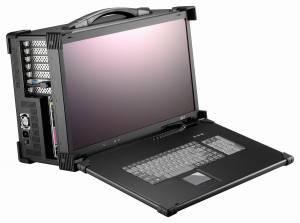 """ARP690-P21BD Алюминиевый корпус для рабочей станции с дисплеем 21.5"""" FHD 1920x1080 TFT LCD/интерфейс дисплея DVI/7 слотов /отсеки 6x5.25""""/1xSlim DVD/2xдинамика 3 Вт/клавиатура 104 клавиши/тачпад/PS/2 блок питания 600 Вт/поддержка АТХ"""