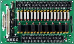 DB-24PR/24 Выносная плата 24 силовых реле (24В)(270Vac/150Vdc@5A), совместима с Opto-22