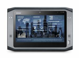 """PWS-870-5S6G6P5F0E Защищенный планшетный компьютер с 10.1"""" HD LCD LED, емкостный сенсорный экран (повыш.яркость), Intel Core i5-4300U 1.9ГГц, 4Гб DDR3L, 64Гб SSD, 1xSD card слот, 3xUSB, HDMI, WLAN, BT, GPS, 4G-EU, 2D, NFC, камеры 2 и 5 МП, Аудио, питание 19В DC, W8P"""