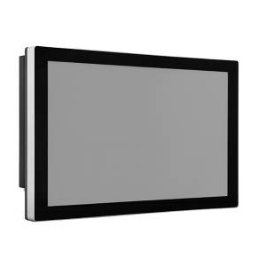 """TDM-P185WT 18.5"""" промышленный монитор, проекционно-емкостный сенсорный экран, IP65 по передней панели, VGA/DP/HDMI, 1920*1080, 350нит, -40...80C, 9...36VDC-in, IEC-60945, адаптер питания"""