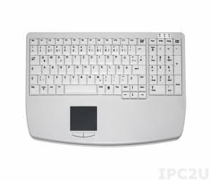TKL-104-TOUCH-KGEH-GREY-USB Настольная промышленная клавиатура, 104 клавиши, тачпад, USB, серая