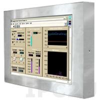 """R17L500-65A1/PAT/U 17"""" LCD монитор, с IP65 по всему корпусу, 1280x1024, сенсорный экран (USB), передняя панель из нержавеющей стали, VGA, с блоком питания 100-240В AC, вход питания 12В DC"""