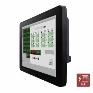 "W10L100-PCH2-POE 10.1"" TFT LCD монитор, 1280x800, проекционно-емкостный сенсорный экран, 350 нит, VGA+HDMI, вход питания PoE, IP65 по передней панели"