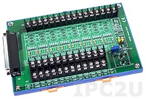 DB-8225/2/DIN Плата клеммников с разъемом DB-37 и датчиком компенсации температуры холодного спая, монтаж на DIN-рейку, до 50В