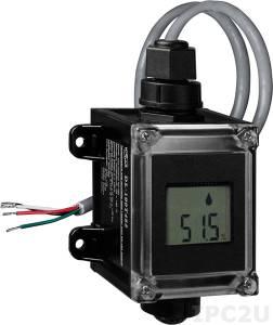 DL-100T485P Модуль для измерения температуры и влажности с визуализацией и протоколированием данных, высокоточный, RS485, DCON, черный корпус, RoHS