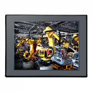 """APPD-1206T 12.1"""" 4:3 LCD LED монитор, 500 нит, VGA, DVI-D, DP, входное питание 12-24 В постоянного тока, 5-проводной резистивный сенсорный экран (1xRS232, 1xUSB), IP65 по передней панели, DC-in"""