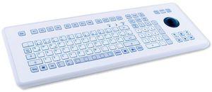 TKS-105c-TB38-KGEH-PS/2 Настольная промышленная IP65 клавиатура, 105 клавиш, трекбол 38мм , PS/2