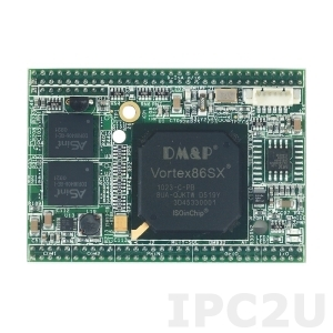 VSX-6119-D-V2 Процессорный модуль Mity-SoC Vortex86SX-300МГц с ОЗУ 128Мб DDR2, 2xCOM, 2MB SPI Flash, AMI BIOS, рабочая температура -20..70