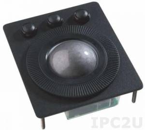 TKH-TB50o-F5-MODUL-PS/2-USB Встраиваемый оптический трекбол с шаром 50мм из пластика, PS/2/USB