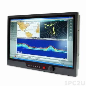"""NPD2115-EGAW-J011 21.5"""" TFT LCD LED монитор для морского применения, 1000 нит, 1920x1080, 2xVGA, 2xDVI, 3xCompositex, питание 9-36В DC"""
