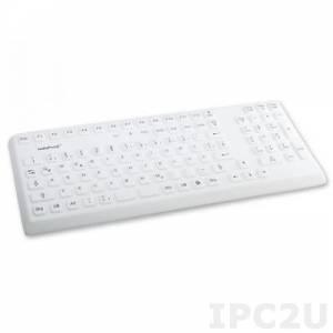 TKG-105-IP68-GREY-USB Промышленная силиконовая IP68 клавиатура, 105 клавиш, USB, цвет серый