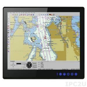 """R19L300-MRA1FP Промышленный 19"""" TFT LCD монитор для морского применения, с IP66 по передней панели, 1280x1024, емкостный сенсорный экран, VGA+DVI+HDMI, вход питания 9-36В DC"""