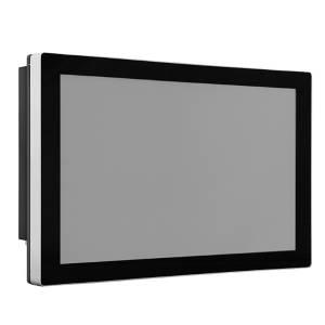 """TDM-P173WT 17.3"""" промышленный монитор, проекционно-емкостный сенсорный экран, IP65 по передней панели, VGA/DP/HDMI, 1920*1080, 400нит, -40...80C, 9...36VDC-in, IEC-60945, адаптер питания"""