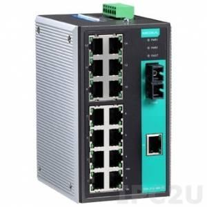EDS-316-M-SC-T Промышленный 16-портовый неуправляемый коммутатор: 15 портов 10/100 BaseT Ethernet и 1 порт 100BaseFX (многомодовое волокно, разъем SС), -40...+75С