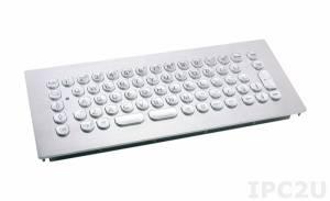 TKV-068-MODUL-PS/2 Встраиваемая вандалоустойчивая IP65 клавиатура, передняя панель из нержавеющей стали, 68 клавиш, PS/2