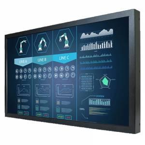 """W22L100-CHA3 Промышленный 21.5"""" TFT LCD монитор, 1920x1080, без сенсорного экрана, металлическая передняя панель, VGA, DVI, с блоком питания 100-240V AC, вход питания 12В DC"""