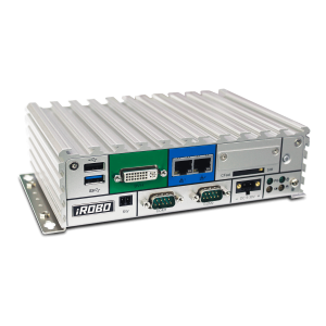 iROBO-6000-NAE4C Встраиваемый компьютер с Intel Atom E3826 1.46ГГц, 4ГБ DDR3L RAM,industrial SSD 128ГБ 3D TLC 2.5 SATA, DVI-I, HDMI, 2xGb LAN, 2xRS-232, 2xRS-232/422/485, 3xUSB, Audio, CFast слот, Mini-PCIe, 9..30В DC, адаптер питания в комплекте
