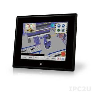 """DM-F65A/R Промышленный 6.5"""" LCD монитор, разрешение 640x480 XGA, яркость 800кд/м2, резистивный сенсорный экран, алюминиевая передняя панель IP65, 1xVGA, 1xDVI, 1xUSB 2.0, 1x-RS-232, питание 12В DC"""