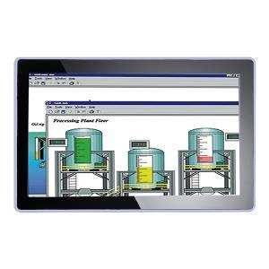 """P6187WPC-AC-U-US-EU-V2 18.5"""" TFT LCD монитор c IP65 по передней панели, WXGA 1366x768, алюминевая передняя панель, проекционно-емкостный сенсорный экран (USB), VGA, DVI, внешний адаптер питания AC/DC"""