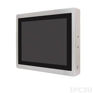 """ViTAM-115P Защищенный TFT LCD монитор, 15"""", защита IP66/IP69K, VGA/HDMI коннекторы M12, яркость 450нит, проекционно-емкостной сенсор, интерфейс USB(M12), питание 9-36В DC, 0-50C, адаптер питания."""
