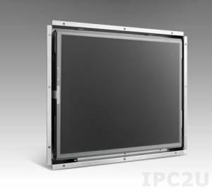 """IDS-3112R-45SVA1E 12.1"""" SXGA LED Open Frame монитор, 450 нит, резистивный сенсорный экран, VGA, DVI-D, 1xUSB, 1xRS-232, вход питания 12В DC, экранное меню"""
