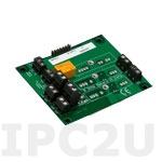 8BP02-3 Плата клеммников для установки 2 модулей нормализаторов сигналов серии 8B, без датчиков компенсации холодного спая, монтаж на DIN-рейку, до 50В