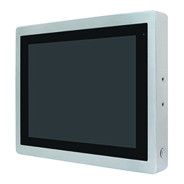 """ViTAM-112P Защищенный TFT LCD монитор, 12,1"""", защита IP66/IP69K, VGA/HDMI коннекторы M12, яркость 350нит, проекционно-емкостной сенсор, интерфейс USB(M12), питание 9-36В DC, 0-50C, адаптер питания."""
