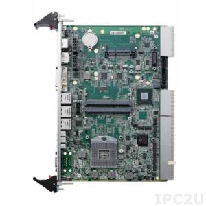 cPCI-6210/510E/M4G Процессорная плата 6U 4HP CompactPCI Corei5 -2510E, 4GB DDR3-1333, GbE x3, COMx2, DisplayPort, DVI-I, USB x3, SATA x2, KB/MS, CFast