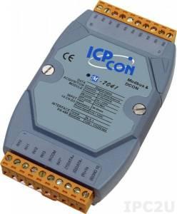 M-7041 Модуль ввода, 14 каналов дискретного ввода, c изоляцией до 3750 В, Modbus RTU