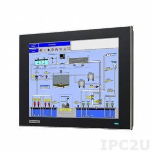 """FPM-7121T-R3AE Промышленный 12.1"""" TFT LCD монитор с IP65 по передней панели из магниево сплава, XGA 1024x768, резистивный сенсорный антибликовый экран из закаленного стекла (RS-232 & USB), VGA, DP, питание 24В DC (клеммная колодка)"""