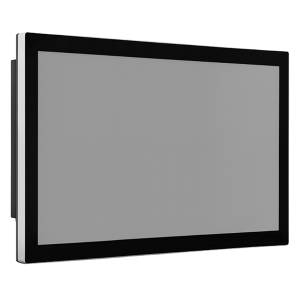 """TDM-P240WT 24"""" промышленный монитор, проекционно-емкостный сенсорный экран, IP65 по передней панели, VGA/DP/HDMI, 1920*1080, 300нит, -40...80C, 9...36VDC-in, IEC-60945, адаптер питания"""