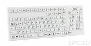 TKG-106-IP68-WHITE-USB Настольная силиконовая IP68 клавиатура, 106 клавиш, USB, белая