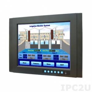 """FPM-3151G-R3BE Промышленный 15"""" TFT LCD LED монитор, 1024x768, яркость 350 нит, резистивный сенсорный экран (RS-232 & USB), VGA, DVI-D, питание AC DC и 12В DC"""