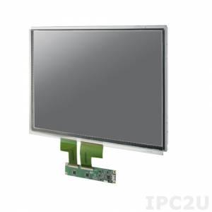 """IDK-1115P-40XGC1E 15"""" LCD 1024 x 768 Open Frame дисплей LED, 400нит, емкостный сенсорный экран (USB), LVDS"""