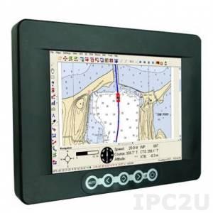 """NPD0835-ETAW-A21 8.4"""" TFT LCD защищенный морской дисплей с LED подсветкой 1000 нит, 800x600, резистивный сенсорный экран (USB), VGA, источник питания 9-36В DC"""