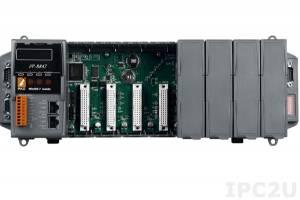 iP-8847 PC-совместимый промышленный контроллер 80МГц, 768кб SRAM, 512кб Flash, 2xLAN, 2xRS232, 1xRS485, 1xRS232/485, 7-сегментный индикатор, 8 слотов расширения, Mini OS7, ISaGRAF 3.5
