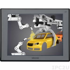 """APPD-1200T-B 12,1"""" 4:3 LCD монитор, 450 нит, 1xVGA, 1xDVI-D, входное питание 12-24 В постоянного тока, 5-проводной резистивный сенсорный экран (1xRS232, 1xUSB), IP65 на передней панели, DC-in"""