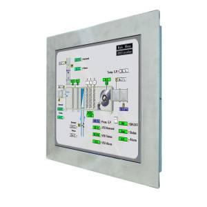 """S17L500-STM1/PAT/R 17"""" TFT LCD монитор для монтажа в панель, стальная передняя панель, 1280x1024, резистивный сенсорный экран, вход VGA, вход HDMI"""