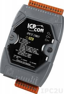 PET-7005 Модуль ввода - вывода, 8 каналов ввода сигнала с термистора / 4 каналов дискретного вывода, PoE