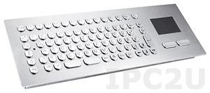 TKV-084-TOUCH-MODUL-USB Встраиваемая промышленная вандалоустойчивая IP65 клавиатура, 84 клавиши, тачпад, USB