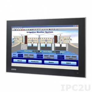 """FPM-7181W-P3AE Промышленный 18,5"""" TFT LCD LED монитор, 1366x768, яркость 300 нит, емкостный сенсорный экран (RS-232 & USB), VGA, DVI-D, адаптeр питания 100-240В AC DC 57Вт"""