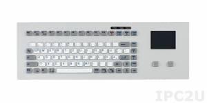 TKG-083b-TOUCH-MODUL-USB Встраиваемая промышленная силиконовая IP65 клавиатура, 83 клавиши, тачпад, USB