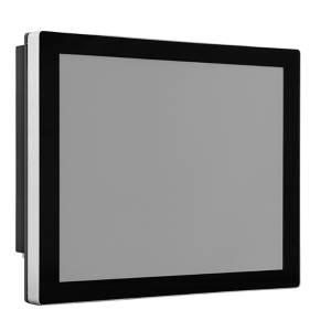 """TDM-P190S 19"""" промышленный монитор, проекционно-емкостный сенсорный экран, IP65 по передней панели, VGA/DVI/HDMI, 1280*1024, 350нит, -10...60C, 9...36VDC-in, адаптер питания"""