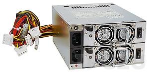 ACE-R4140AP-RS Дублированный Mini Redundant источник питания переменного тока 400Вт ATX, с двумя модулями ACE-R4140AP1-RS, с PFC, RoHS