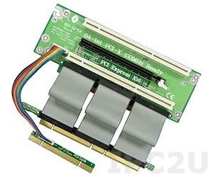 GHP-U746-C9 Объединительная Riser плата 2xPCI-X 64бит 3.3В, 1xPCI Express x16 слотов, для корпусов 2U