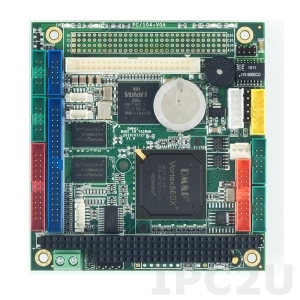 VDX-6354RD-512 PC/104 процессорная плата Vortex86DX 800МГц с 512МБ RAM, VGA CRT/LCD, LAN, 4xCOM, 2xUSB, Audio, GPIO, рабочая температура -20..+70 C
