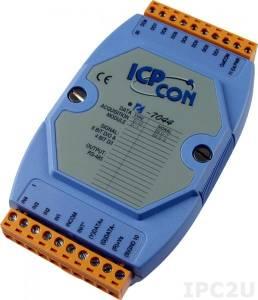 I-7044 Модуль ввода - вывода, 4 канала дискретного ввода / 8 каналов дискретного вывода, с изоляцией до 3750В