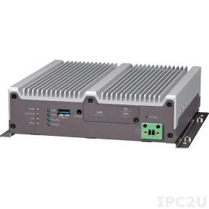 VTC-1010-BK Компьютер для транспорта с Intel Atom E3827 1.75ГГц, 2Гб DDR3L SO-DIMM, VGA/DP, Gb LAN, 2xRS-232, RS-422/485, 1xCAN и 3xGPIO, 2xUSB 2.0, USB 3.0, 4xMini-PCIe, GPS, вход 6...36В DC